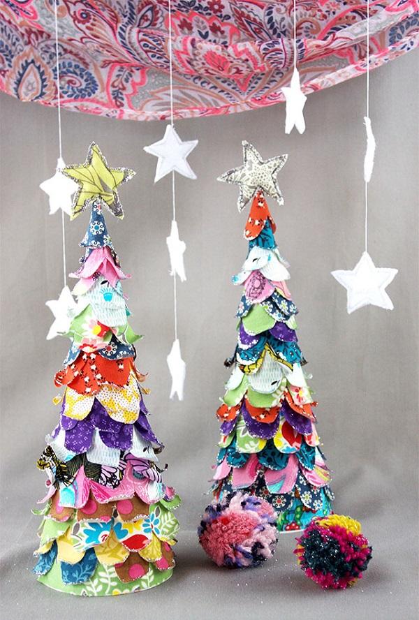 Tutorial Scrap Fabric Christmas Tree Sewing