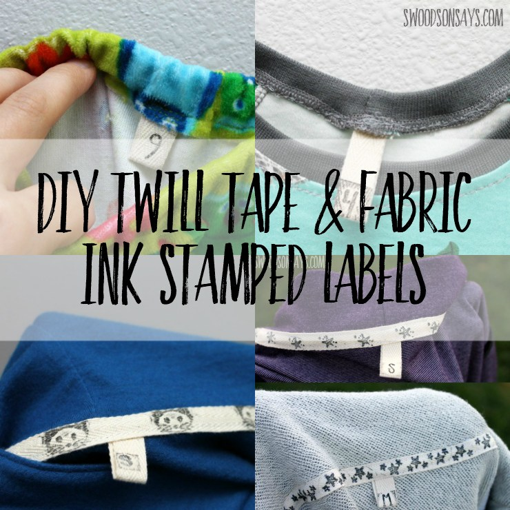 Tutorial diy twill tape labels for clothes you sew sewing for Sew in craft labels