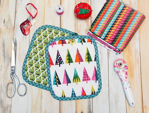 Tutorial: Easy quilted pot holder