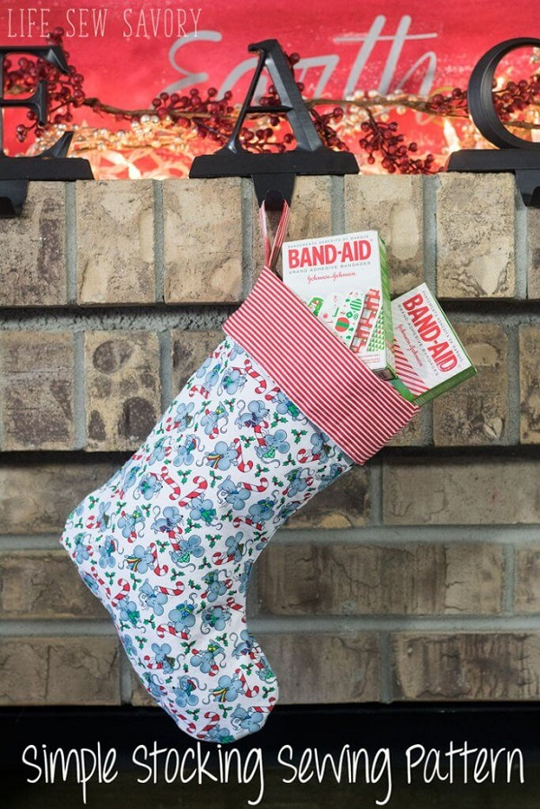 Tutorial and pattern: Christmas stocking – Sewing