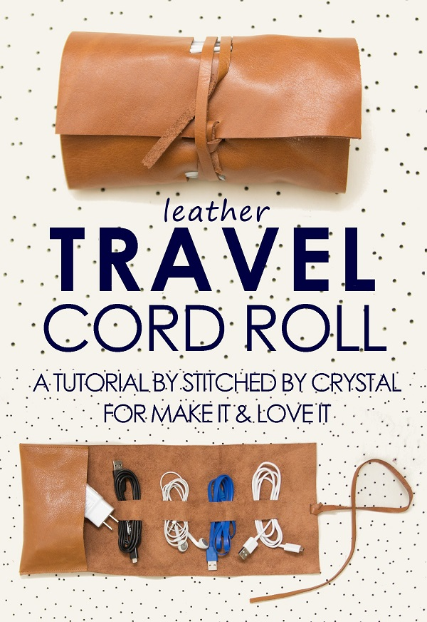Tutorial: Travel power cord organizer roll
