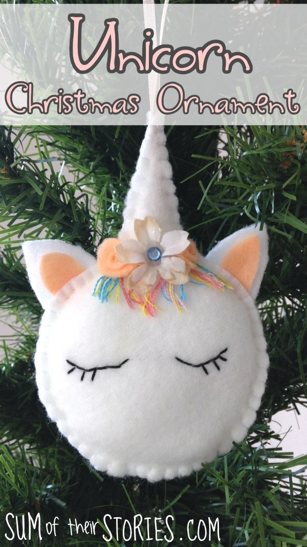 Tutorial And Pattern Felt Unicorn Christmas Ornament Sewing
