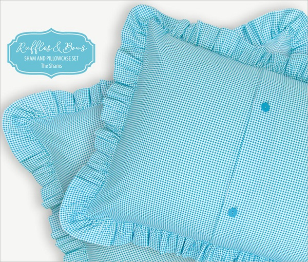 Tutorial: Ruffled gingham pillow shams