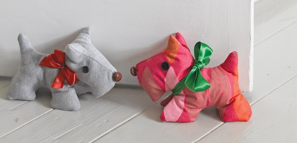 Tutorial and pattern: Scotty dog doorstop