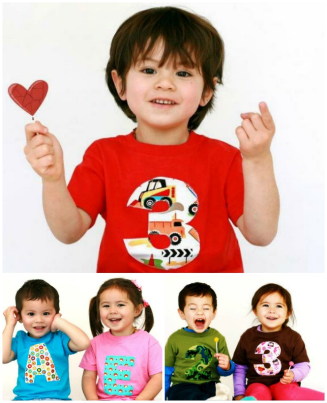 Tutorial: 15 minute child's number birthday shirt