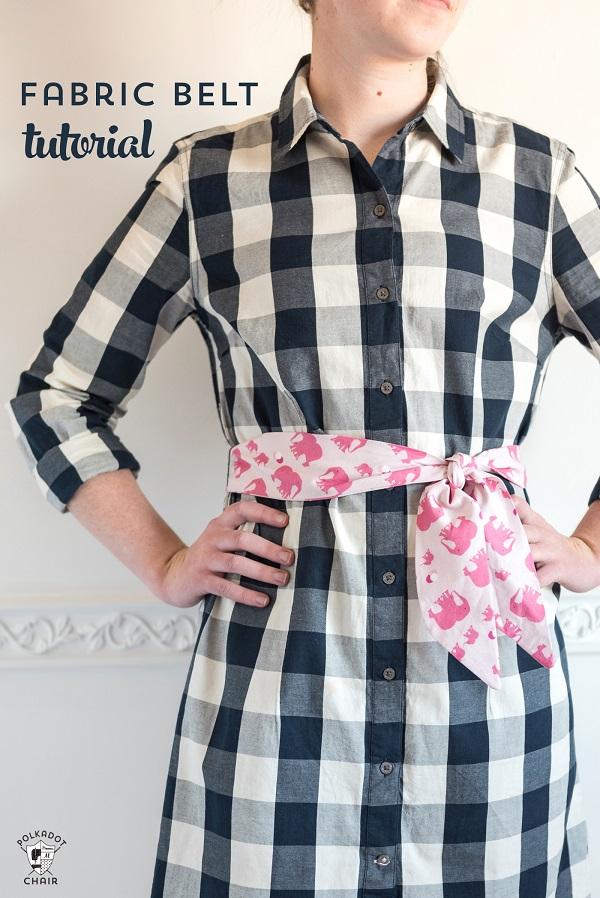 Tutorial: 30 minute fabric belt or sash