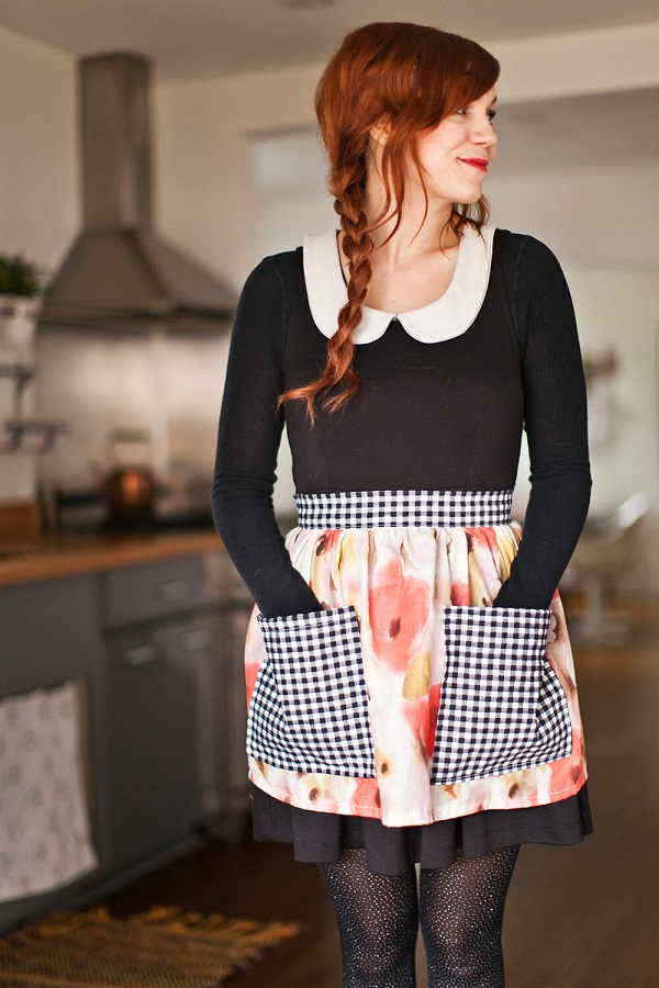 Tutorial: Easy gathered half apron