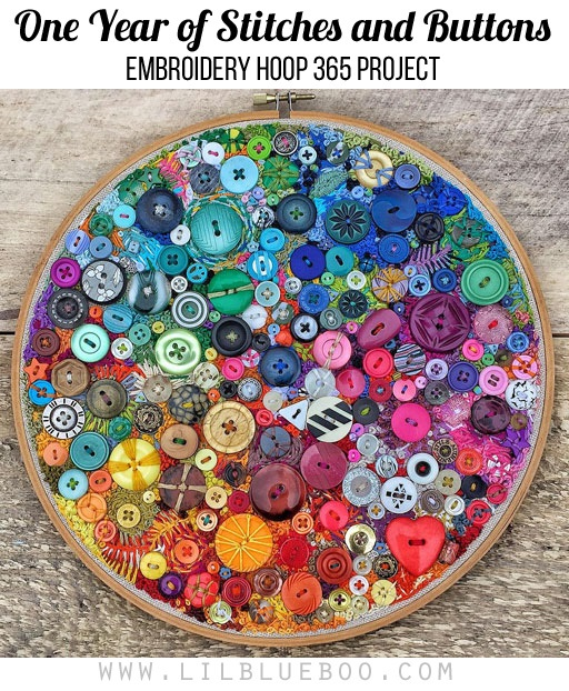 365 days of stitches in this embroidery hoop project