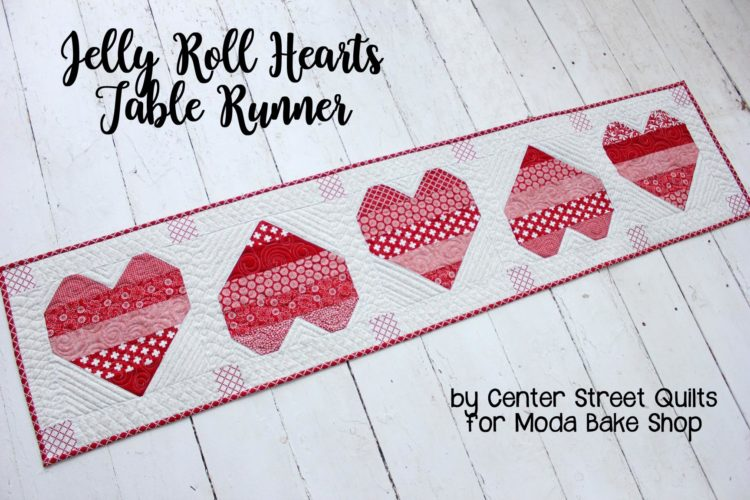Tutorial: Patchwork hearts table runner