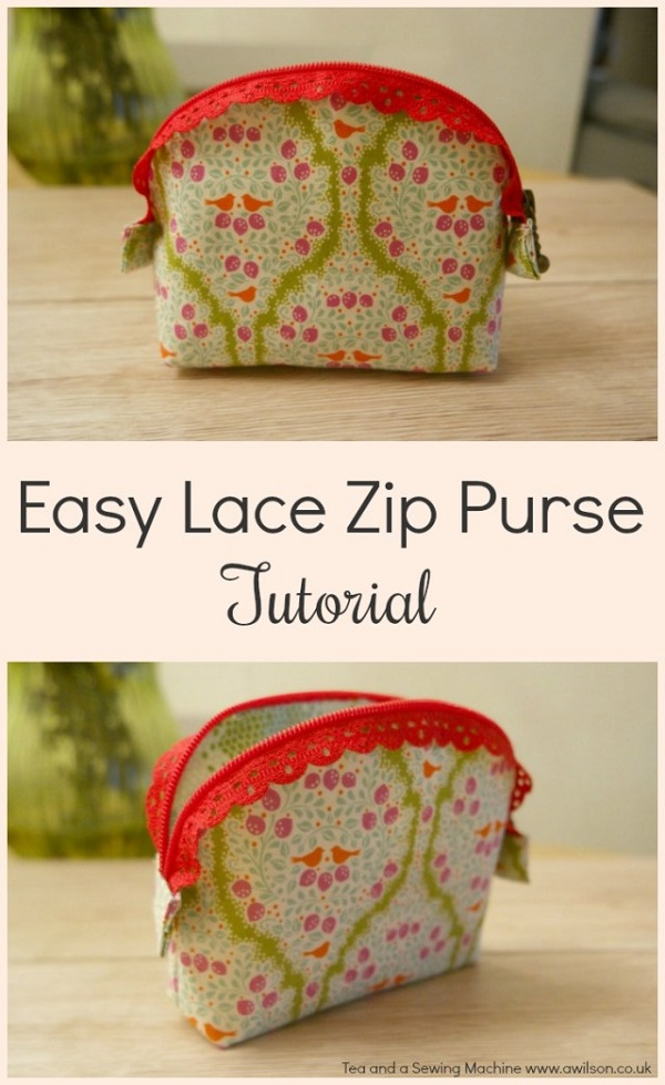 How To Make A Pouch With Craft Lace