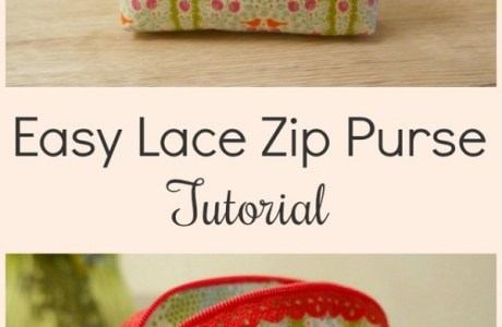 Tutorial: Lace edge zipper pouch