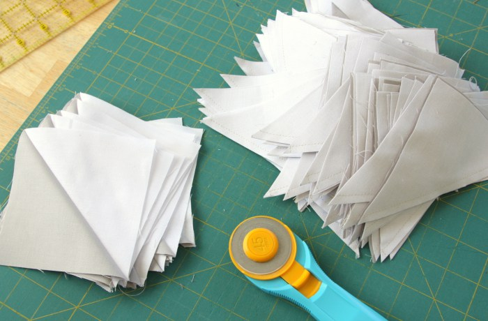 Video tutorial: Sew 16 half square triangles at one time