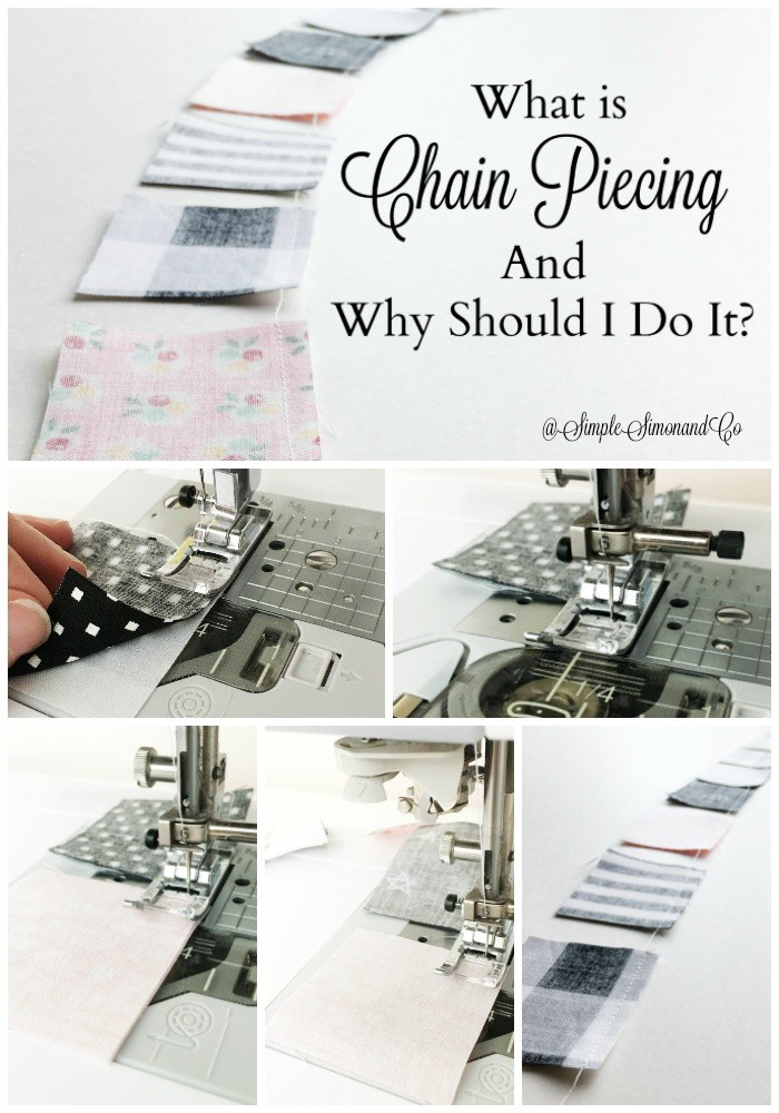 Tutorial: Use chain piecing for speed up your patchwork