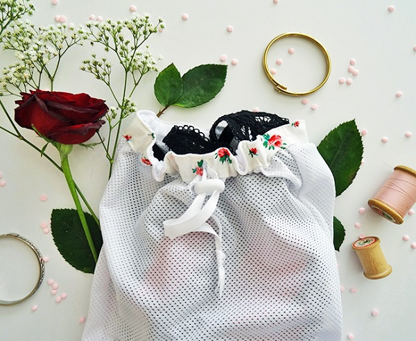 Tutorial: Mesh travel lingerie travel bag