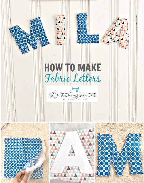 Tutorial: 10-minute fabric letters for wall decor