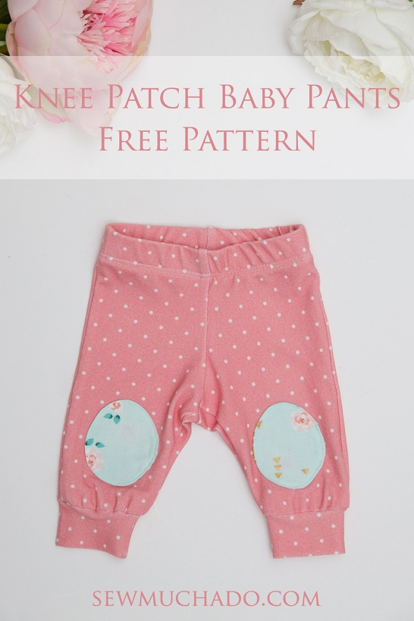 Tutorial and pattern: Newborn baby knee patch pants