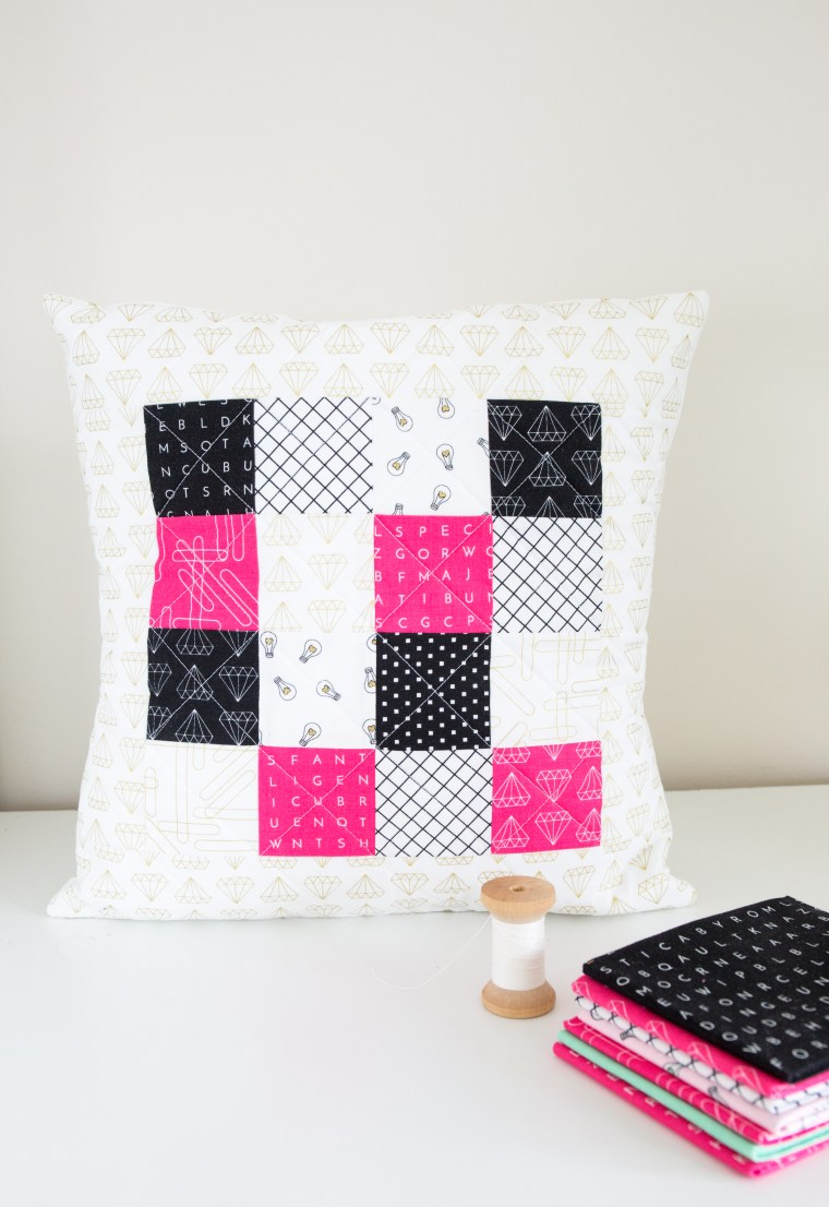 Tutorial: Quilted patchwork pillow