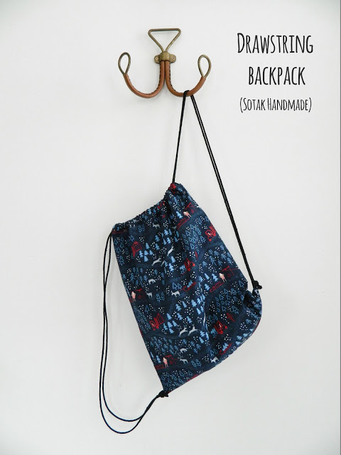 Tutorial: Easy drawstring backpack