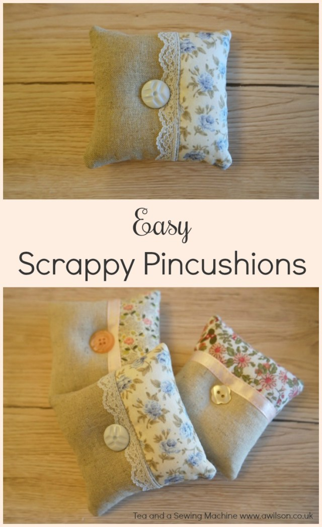 Tutorial: Scrap fabric patchwork pincushion