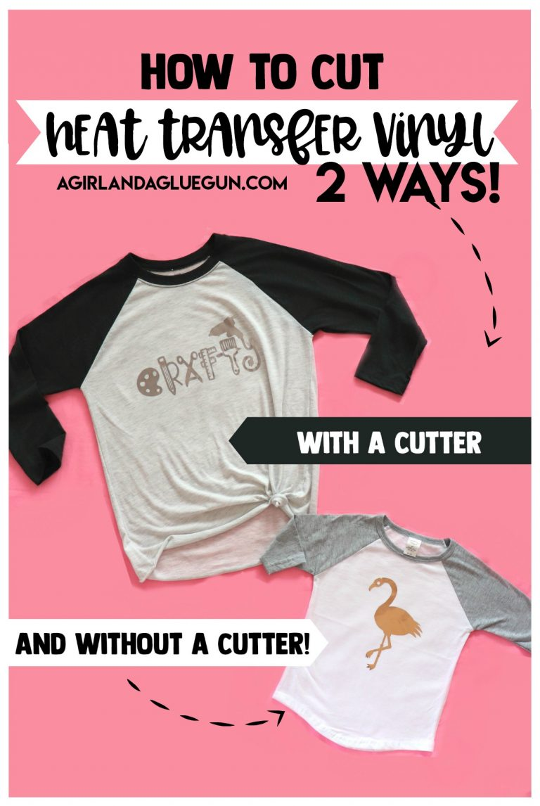 Tutorial: How to cut heat transfer vinyl without a cutting machine