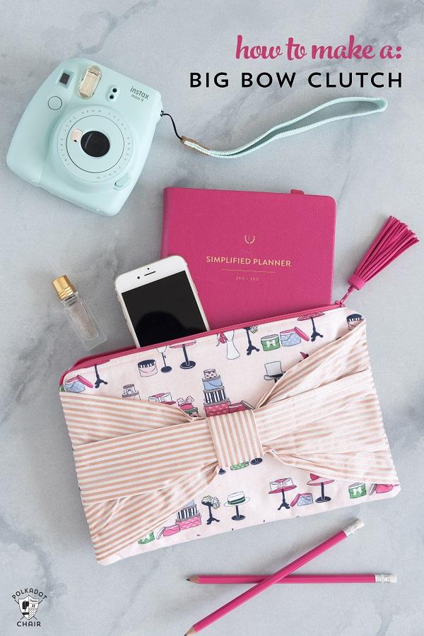 Tutorial: Big bow clutch purse