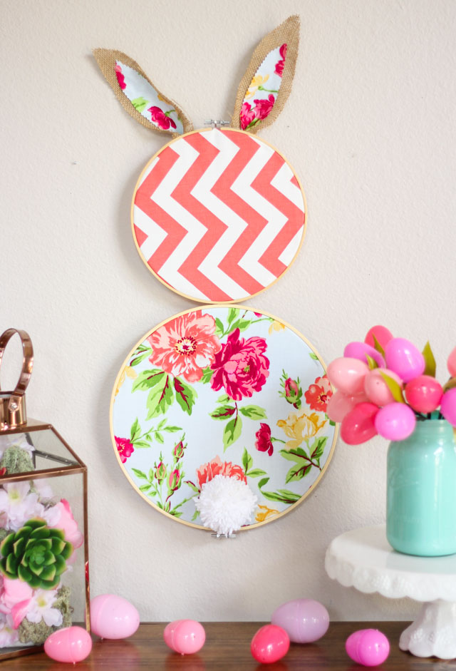 Tutorial Embroidery Hoop Easter Bunny Wall Decor Sewing