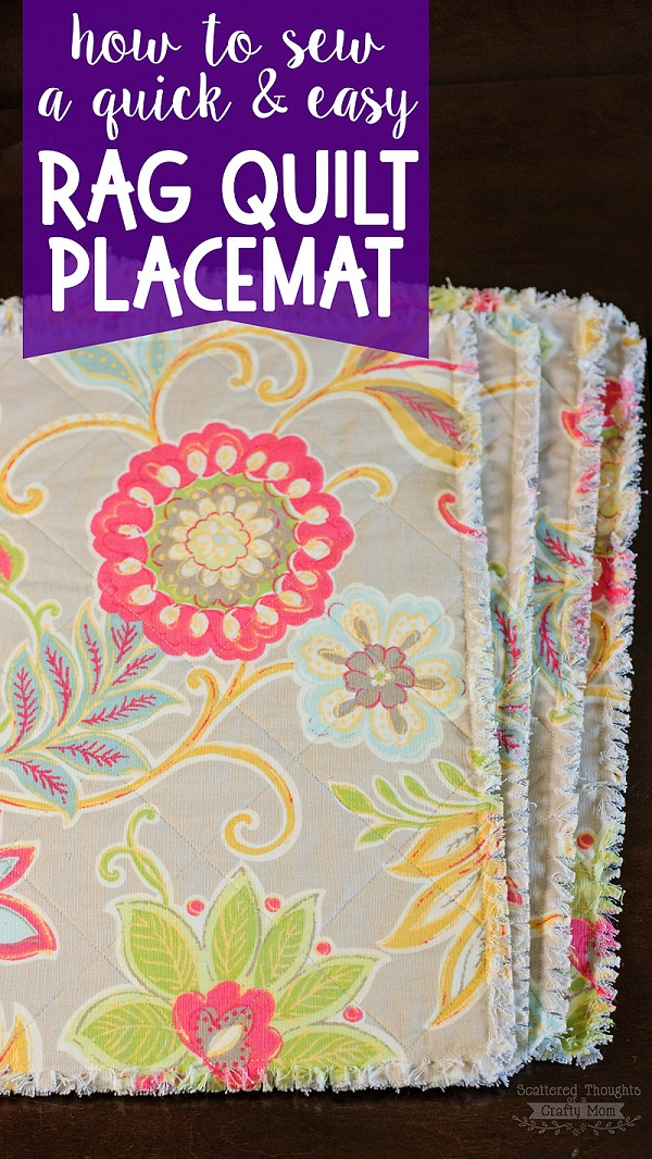 Tutorial Rag Quilt Placemats Sewing