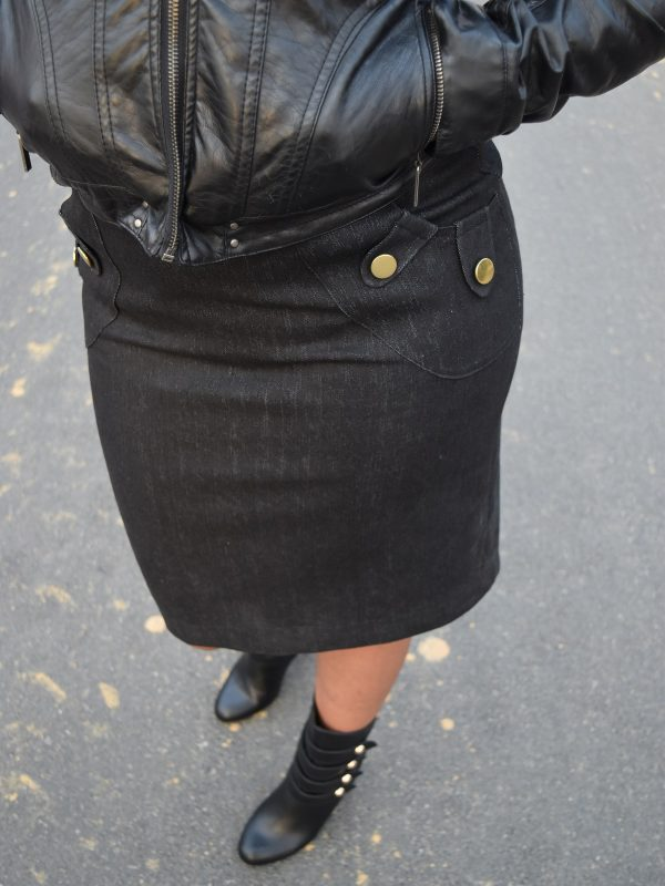 Tutorial: Add button tab patch pockets to a skirt