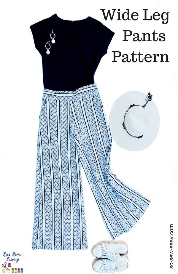 Sewing tutorial: Wide leg Palazzo pants, with free pattern