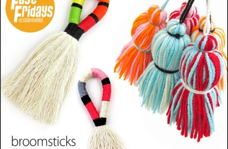 Tutorial: Broomstick and chubby yarn tassels