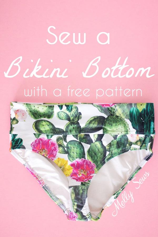 Sewing tutorial: How to sew a bikini bottom