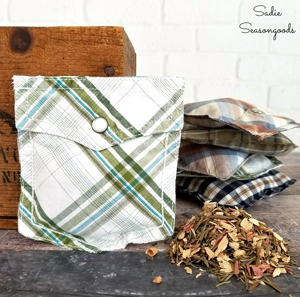 Sewing tutorial: Upcycled shirt pocket sachets