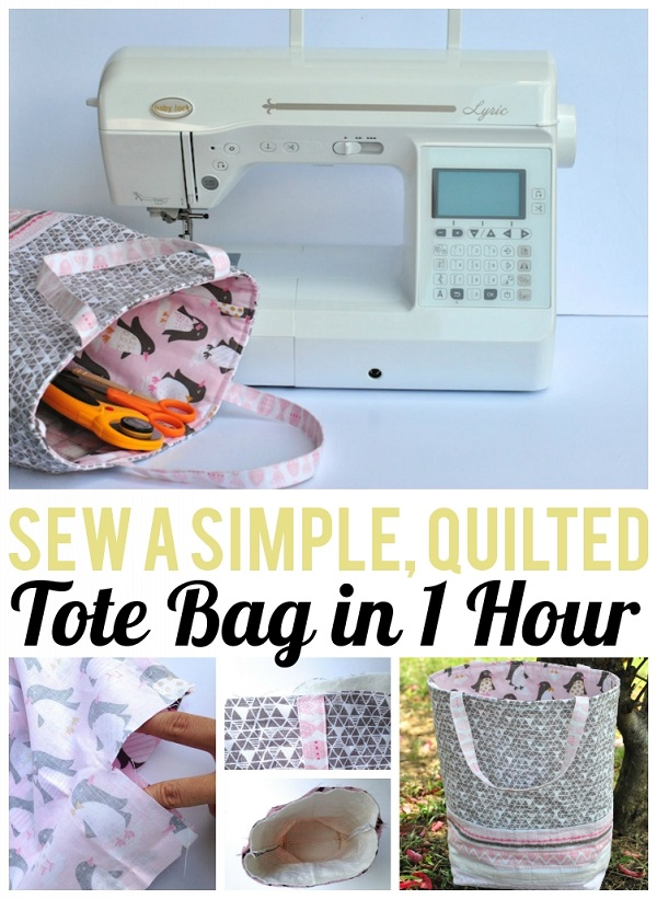 Sewing tutorial: 1 hour quilted tote bag