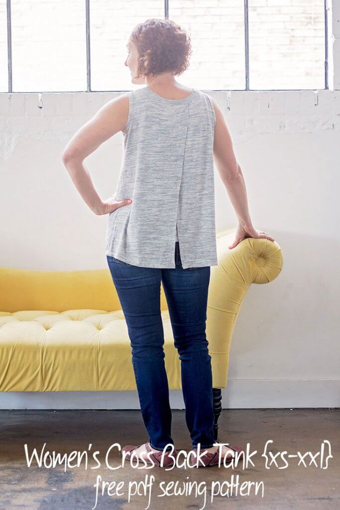 Sewing tutorial: Women's cross back tank, with free sewing pattern