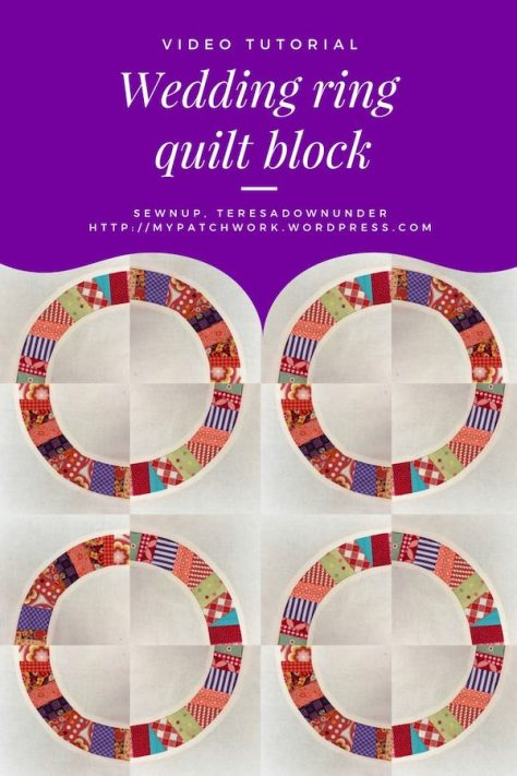 Video tutorial: Wedding ring quilt block with template