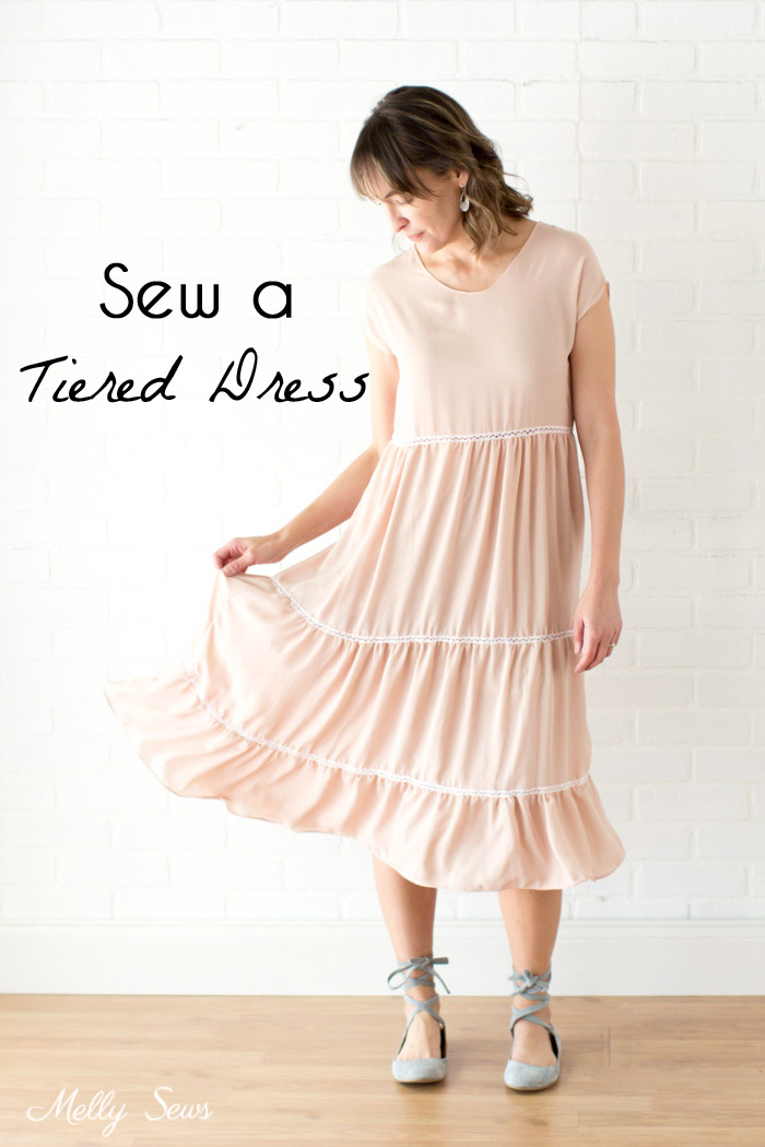 Sewing tutorial: Tiered Boho dress