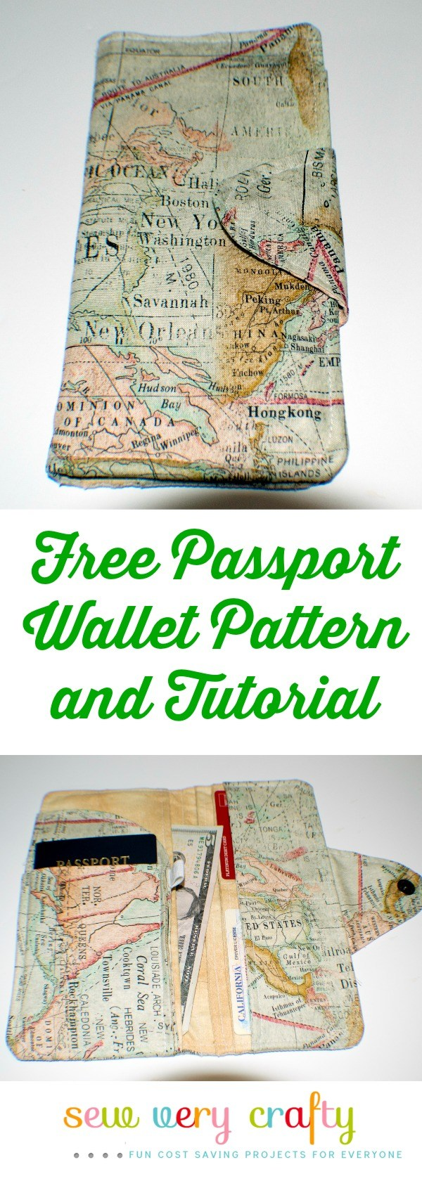 Sewing tutorial: Passport wallet with lots of pockets