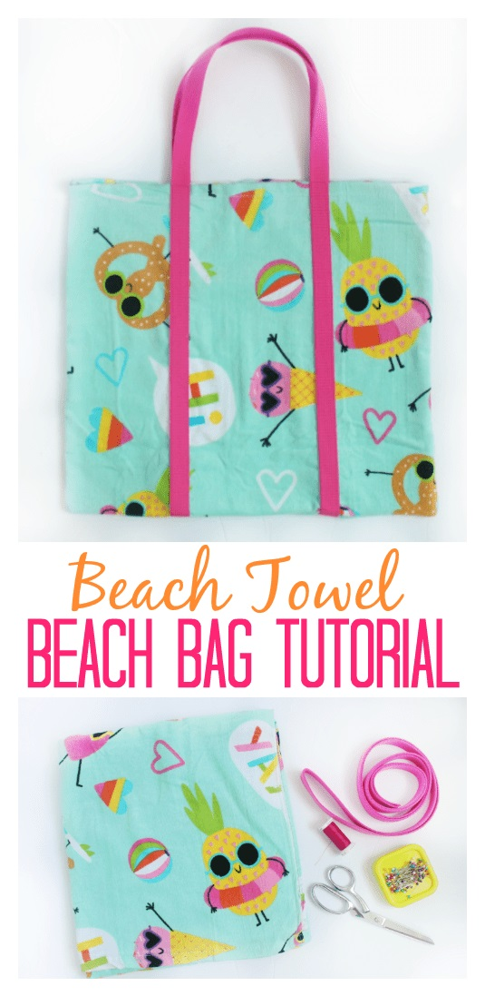 Sewing tutorial: Beach tote from a towel
