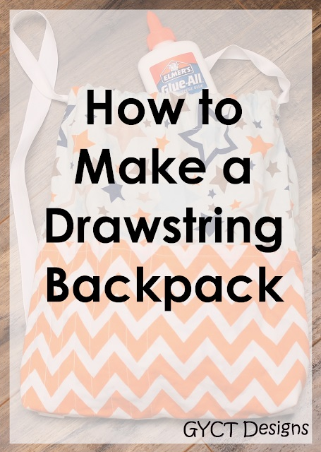 Sewing tutorial: Drawstring backpack, with free pattern