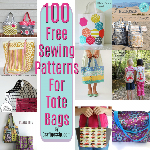 100 Sewing Patterns – Tote Bags – Sewing