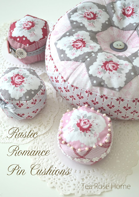 Sewing tutorial: Fussy cut hexagon pincushions