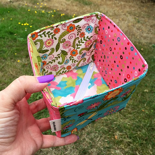 Sewing tutorial: Collapsible fabric storage box