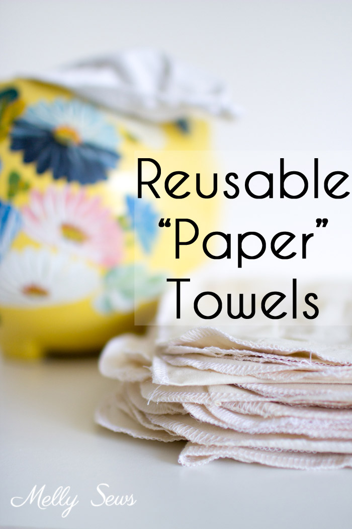 Sewing tutorial: Reusable kitchen clean up towels