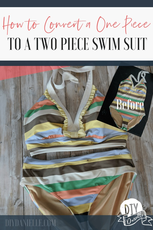 Sewing tutorial: Turn a one piece swim suit into a two piece