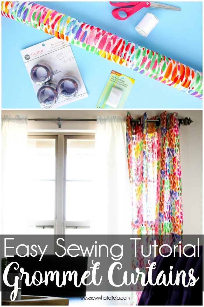 Sewing tutorial: Easy grommet curtains
