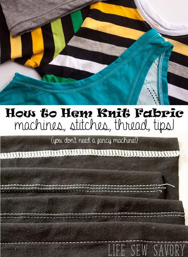 Sewing tutorial: Hemming stretch fabrics