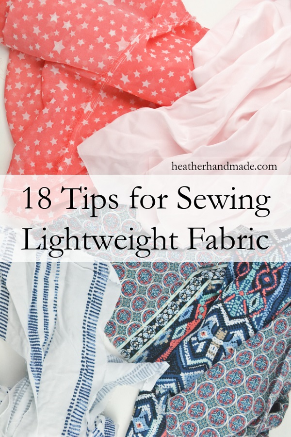 Lightweight fabric sewing tips