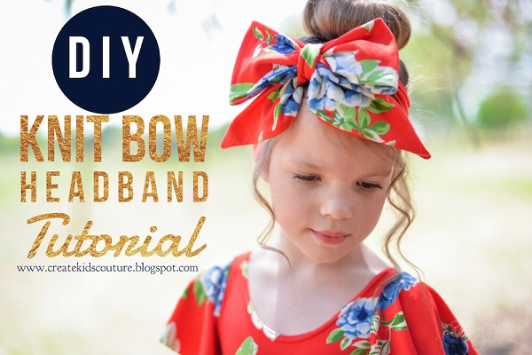 Sewing tutorial: Knit fabric bow headband