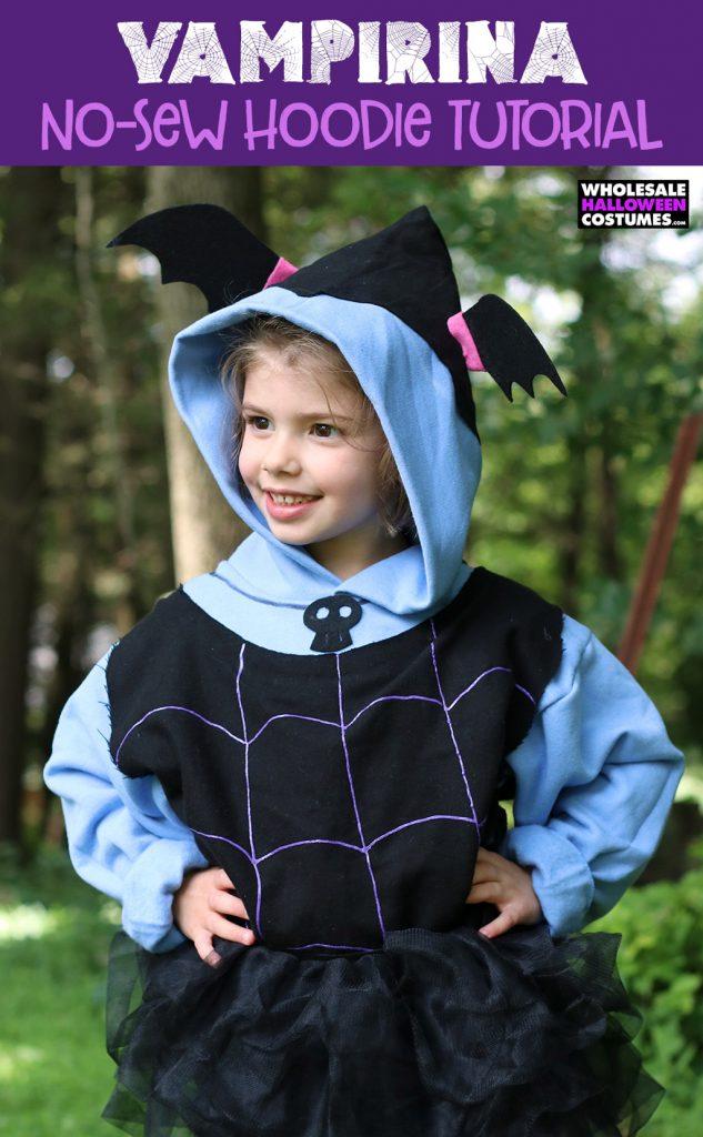 Tutorial: No-sew Vampirina hoodie