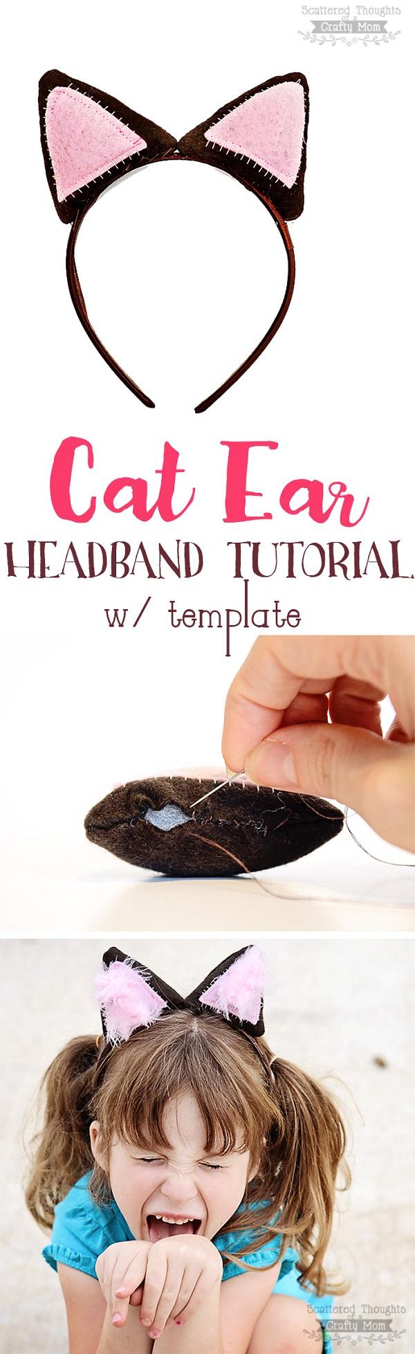Sewing tutorial: Cat ear headband